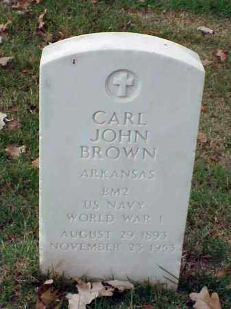 BROWN (VETERAN WWI), CARL JOHN - Pulaski County, Arkansas | CARL JOHN BROWN (VETERAN WWI) - Arkansas Gravestone Photos