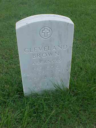 BROWN (VETERAN WWI), CLEVELAND - Pulaski County, Arkansas | CLEVELAND BROWN (VETERAN WWI) - Arkansas Gravestone Photos