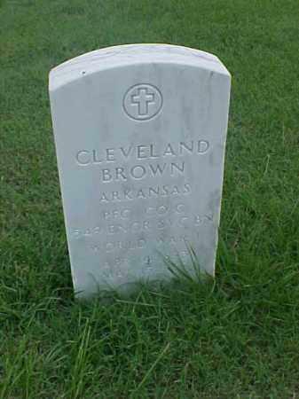 BROWN (VETERAN WWI), CLEVELAND - Pulaski County, Arkansas | CLEVELAND BROWN (VETERAN WWI) - Arkansas Gravestone Photos