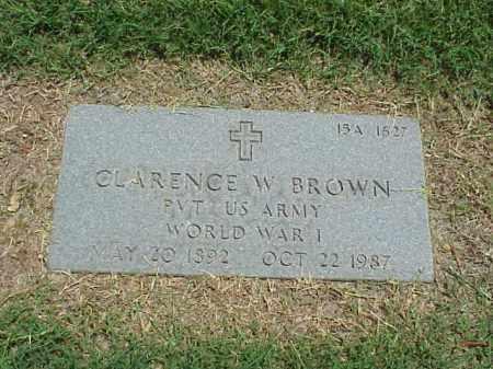 BROWN (VETERAN WWI), CLARENCE W - Pulaski County, Arkansas | CLARENCE W BROWN (VETERAN WWI) - Arkansas Gravestone Photos