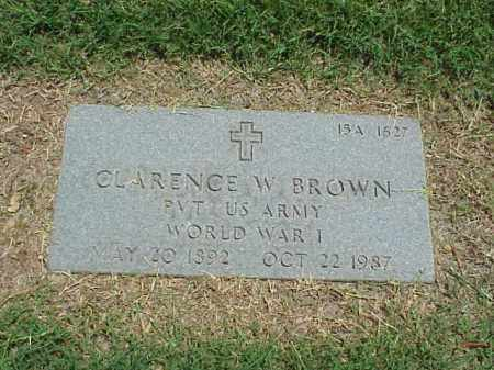 BROWN (VETERAN WWI), CLARENCE W - Pulaski County, Arkansas | CLARENCE W BROWN (VETERAN WWI) - Arkansas Gravestone Photos