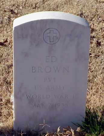 BROWN (VETERAN WWI), ED - Pulaski County, Arkansas | ED BROWN (VETERAN WWI) - Arkansas Gravestone Photos
