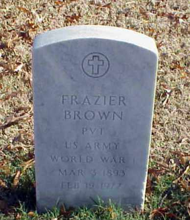 BROWN (VETERAN WWI), FRAZIER - Pulaski County, Arkansas | FRAZIER BROWN (VETERAN WWI) - Arkansas Gravestone Photos