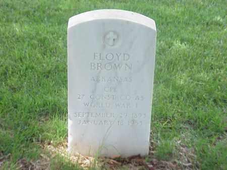 BROWN (VETERAN WWI), FLOYD - Pulaski County, Arkansas | FLOYD BROWN (VETERAN WWI) - Arkansas Gravestone Photos
