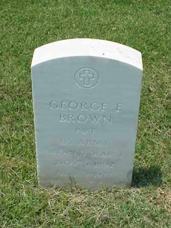BROWN (VETERAN WWI), GEORGE E - Pulaski County, Arkansas   GEORGE E BROWN (VETERAN WWI) - Arkansas Gravestone Photos