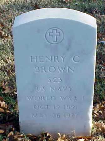 BROWN (VETERAN WWI), HENRY C - Pulaski County, Arkansas | HENRY C BROWN (VETERAN WWI) - Arkansas Gravestone Photos