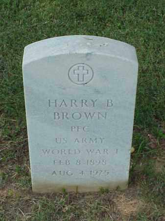 BROWN (VETERAN WWI), HARRY B - Pulaski County, Arkansas | HARRY B BROWN (VETERAN WWI) - Arkansas Gravestone Photos