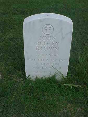 BROWN (VETERAN WWI), JOHN DUDLEY - Pulaski County, Arkansas | JOHN DUDLEY BROWN (VETERAN WWI) - Arkansas Gravestone Photos