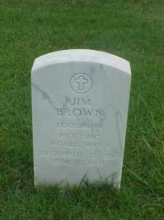 BROWN (VETERAN WWI), JIM - Pulaski County, Arkansas | JIM BROWN (VETERAN WWI) - Arkansas Gravestone Photos