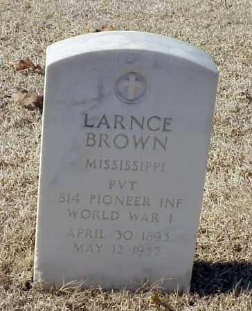 BROWN (VETERAN WWI), LARNCE - Pulaski County, Arkansas | LARNCE BROWN (VETERAN WWI) - Arkansas Gravestone Photos