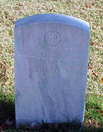 BROWN (VETERAN WWI), OLIN - Pulaski County, Arkansas | OLIN BROWN (VETERAN WWI) - Arkansas Gravestone Photos