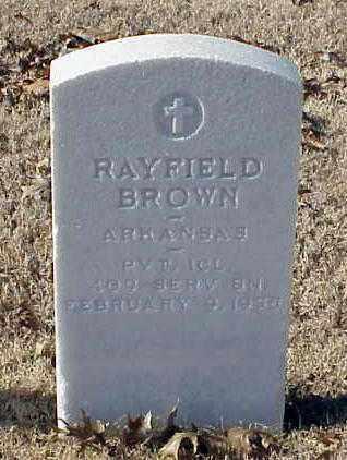 BROWN (VETERAN WWI), RAYFIELD - Pulaski County, Arkansas | RAYFIELD BROWN (VETERAN WWI) - Arkansas Gravestone Photos