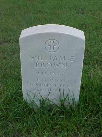 BROWN (VETERAN WWI), WILLIAM E - Pulaski County, Arkansas   WILLIAM E BROWN (VETERAN WWI) - Arkansas Gravestone Photos