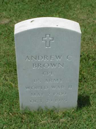 BROWN (VETERAN WWII), ANDREW C - Pulaski County, Arkansas | ANDREW C BROWN (VETERAN WWII) - Arkansas Gravestone Photos