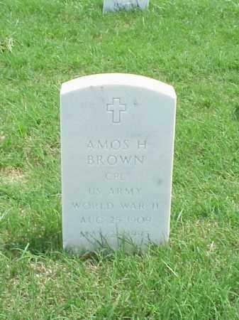 BROWN (VETERAN WWII), AMOS H - Pulaski County, Arkansas | AMOS H BROWN (VETERAN WWII) - Arkansas Gravestone Photos