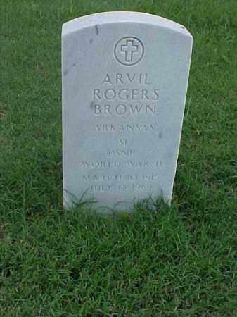 BROWN (VETERAN WWII), ARVIL ROGERS - Pulaski County, Arkansas | ARVIL ROGERS BROWN (VETERAN WWII) - Arkansas Gravestone Photos