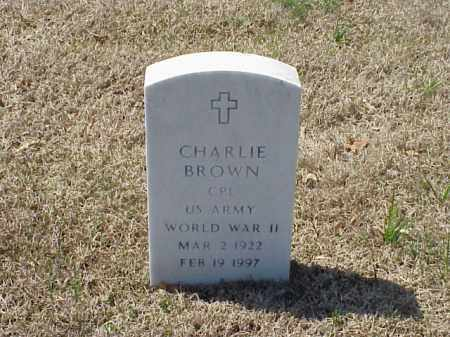 BROWN (VETERAN WWII), CHARLIE - Pulaski County, Arkansas | CHARLIE BROWN (VETERAN WWII) - Arkansas Gravestone Photos