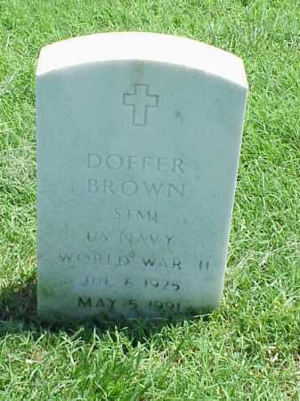 BROWN (VETERAN WWII), DOFFER - Pulaski County, Arkansas | DOFFER BROWN (VETERAN WWII) - Arkansas Gravestone Photos