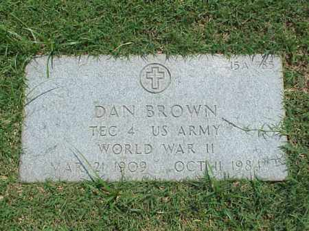 BROWN (VETERAN WWII), DAN - Pulaski County, Arkansas | DAN BROWN (VETERAN WWII) - Arkansas Gravestone Photos