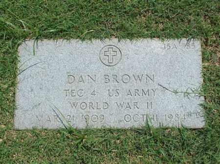 BROWN (VETERAN WWII), DAN - Pulaski County, Arkansas | DAN BROWN (VETERAN WWII) - Arkansas Gravestone Photos