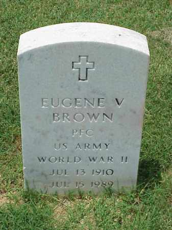 BROWN (VETERAN WWII), EUGENE V - Pulaski County, Arkansas | EUGENE V BROWN (VETERAN WWII) - Arkansas Gravestone Photos