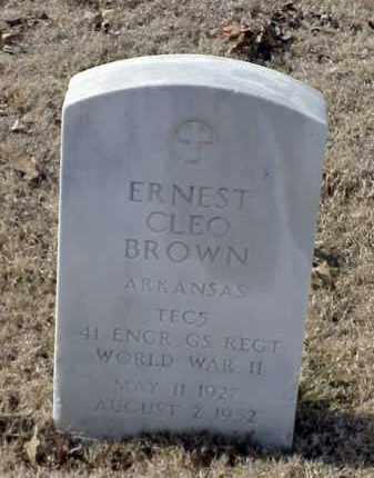 BROWN (VETERAN WWII), ERNEST CLEO - Pulaski County, Arkansas | ERNEST CLEO BROWN (VETERAN WWII) - Arkansas Gravestone Photos