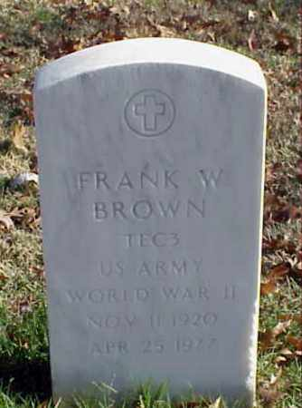 BROWN (VETERAN WWII), FRANK W - Pulaski County, Arkansas | FRANK W BROWN (VETERAN WWII) - Arkansas Gravestone Photos