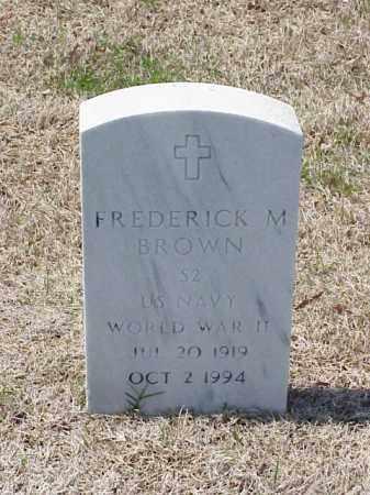 BROWN (VETERAN WWII), FREDERICK M - Pulaski County, Arkansas | FREDERICK M BROWN (VETERAN WWII) - Arkansas Gravestone Photos