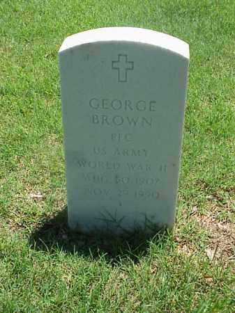 BROWN (VETERAN WWII), GEORGE - Pulaski County, Arkansas   GEORGE BROWN (VETERAN WWII) - Arkansas Gravestone Photos