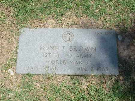 BROWN (VETERAN WWII), GENE P - Pulaski County, Arkansas   GENE P BROWN (VETERAN WWII) - Arkansas Gravestone Photos