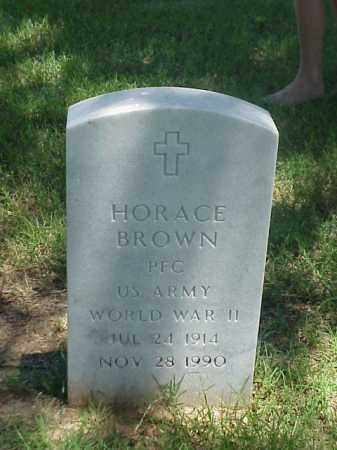 BROWN (VETERAN WWII), HORACE - Pulaski County, Arkansas | HORACE BROWN (VETERAN WWII) - Arkansas Gravestone Photos