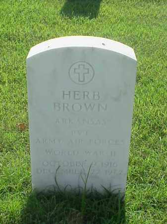 BROWN (VETERAN WWII), HERB - Pulaski County, Arkansas | HERB BROWN (VETERAN WWII) - Arkansas Gravestone Photos