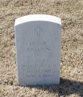 BROWN (VETERAN WWII), HOSIE - Pulaski County, Arkansas | HOSIE BROWN (VETERAN WWII) - Arkansas Gravestone Photos