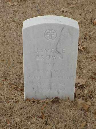 BROWN (VETERAN WWII), JAMES E - Pulaski County, Arkansas   JAMES E BROWN (VETERAN WWII) - Arkansas Gravestone Photos