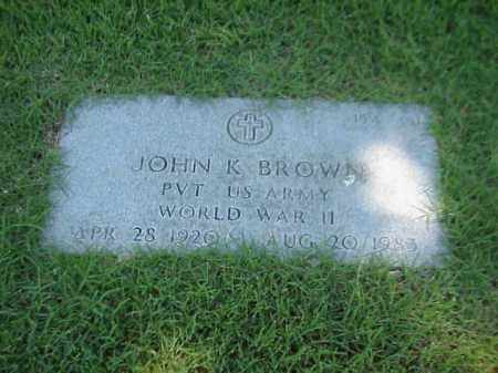 BROWN (VETERAN WWII), JOHN K - Pulaski County, Arkansas | JOHN K BROWN (VETERAN WWII) - Arkansas Gravestone Photos
