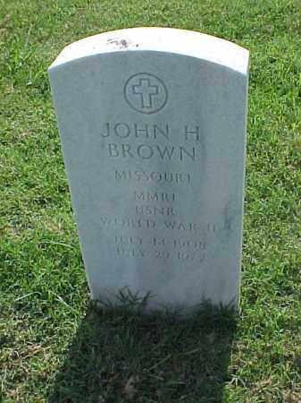 BROWN (VETERAN WWII), JOHN H - Pulaski County, Arkansas | JOHN H BROWN (VETERAN WWII) - Arkansas Gravestone Photos