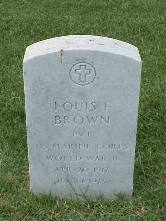 BROWN (VETERAN WWII), LOUIS F - Pulaski County, Arkansas | LOUIS F BROWN (VETERAN WWII) - Arkansas Gravestone Photos