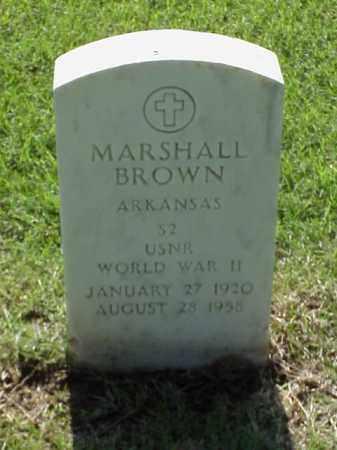 BROWN (VETERAN WWII), MARSHALL - Pulaski County, Arkansas   MARSHALL BROWN (VETERAN WWII) - Arkansas Gravestone Photos