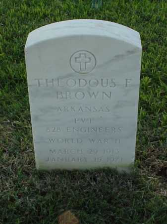 BROWN (VETERAN WWII), THEODOUS FLIN - Pulaski County, Arkansas | THEODOUS FLIN BROWN (VETERAN WWII) - Arkansas Gravestone Photos