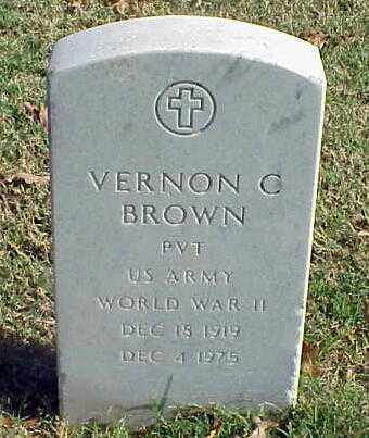 BROWN (VETERAN WWII), VERNON C - Pulaski County, Arkansas | VERNON C BROWN (VETERAN WWII) - Arkansas Gravestone Photos