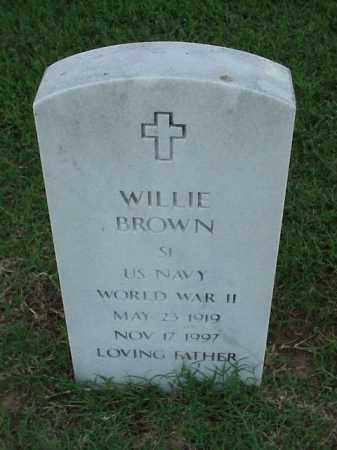 BROWN (VETERAN WWII), WILLIE - Pulaski County, Arkansas | WILLIE BROWN (VETERAN WWII) - Arkansas Gravestone Photos