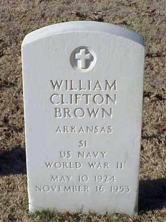 BROWN (VETERAN WWII), WILLIAM CLIFTON - Pulaski County, Arkansas | WILLIAM CLIFTON BROWN (VETERAN WWII) - Arkansas Gravestone Photos