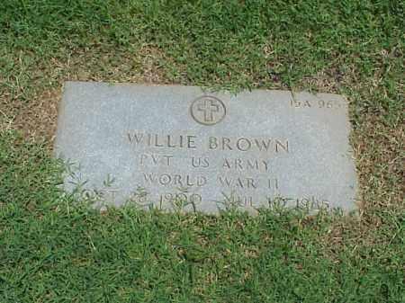 BROWN (VETERAN WWII), WILLIE - Pulaski County, Arkansas | WILLIE BROWN (VETERAN WWII) - Arkansas Gravestone Photos