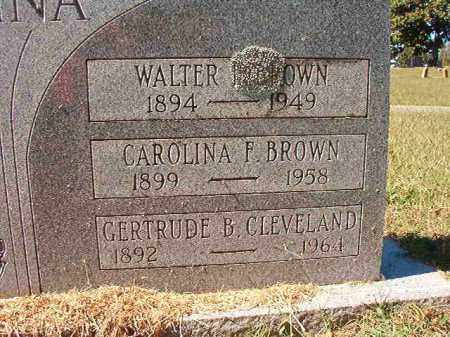 BROWN, CAROLINA F - Pulaski County, Arkansas | CAROLINA F BROWN - Arkansas Gravestone Photos