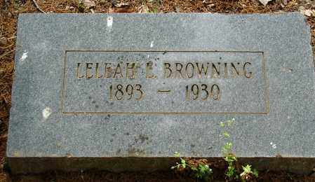 BROWNING, LELEAH L. - Pulaski County, Arkansas | LELEAH L. BROWNING - Arkansas Gravestone Photos