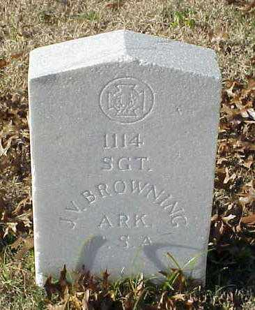 BROWNING (VETERAN CSA), J V - Pulaski County, Arkansas | J V BROWNING (VETERAN CSA) - Arkansas Gravestone Photos