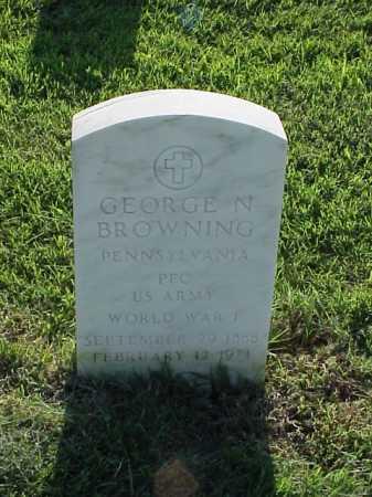BROWNING (VETERAN WWI), GEORGE N - Pulaski County, Arkansas | GEORGE N BROWNING (VETERAN WWI) - Arkansas Gravestone Photos