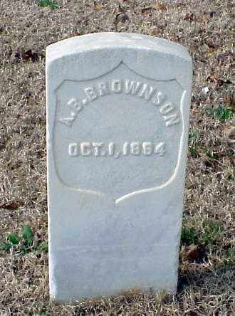 BROWNSON (VETERAN UNION), A B - Pulaski County, Arkansas | A B BROWNSON (VETERAN UNION) - Arkansas Gravestone Photos