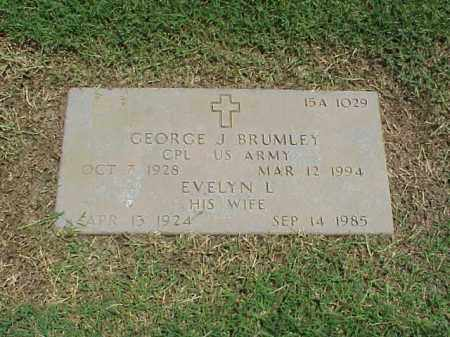 BRUMLEY (VETERAN KOR), GEORGE J - Pulaski County, Arkansas | GEORGE J BRUMLEY (VETERAN KOR) - Arkansas Gravestone Photos