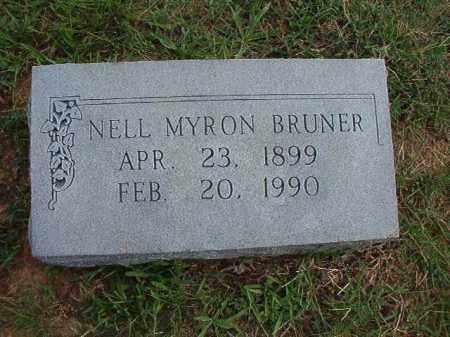 BRUNER, NELL MYRON - Pulaski County, Arkansas | NELL MYRON BRUNER - Arkansas Gravestone Photos